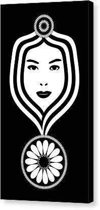 Art Nouveau Woman Canvas Print