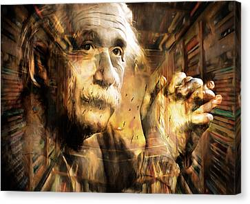 Art Of A Genius Canvas Print by Georgiana Romanovna