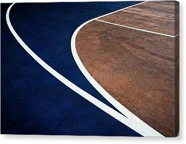 Art On The Basketball Court  11 Canvas Print