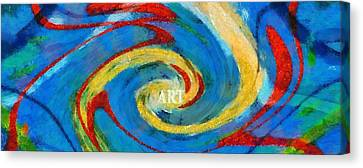 Art Swirl Canvas Print by Dan Sproul