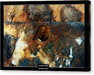Art Work 206 Ship Rust Canvas Print by Alexander Drum