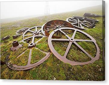 Artefacts At An Abandoned Coal Mine Canvas Print