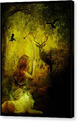 Artemis Canvas Print by Mary Hood