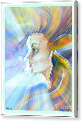 Canvas Print featuring the painting Artemis by Leanne Seymour