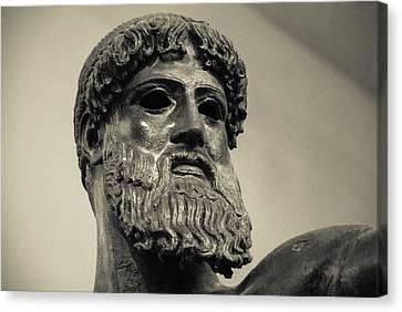 Artemision Zeus Canvas Print by David Waldo