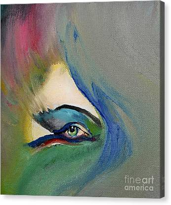 Canvas Print featuring the painting Artful Eye Of Mine by Maja Sokolowska