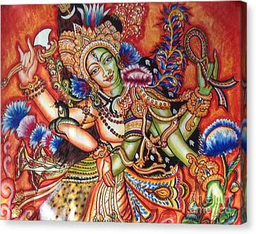 Arthanareeshwara Canvas Print by Kami A