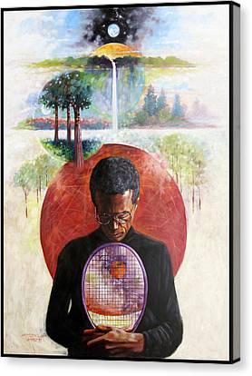 Ashe Canvas Print - Arthur Ashe by John Lautermilch
