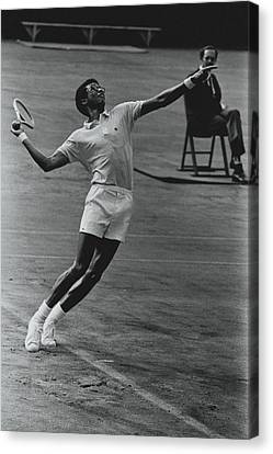 Arthur Ashe Playing Tennis Canvas Print by Jack Robinson