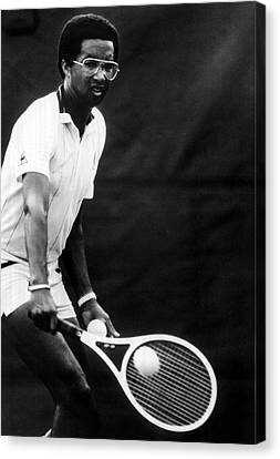 Australian Open Canvas Print - Arthur Ashe Playing Tennis by Retro Images Archive