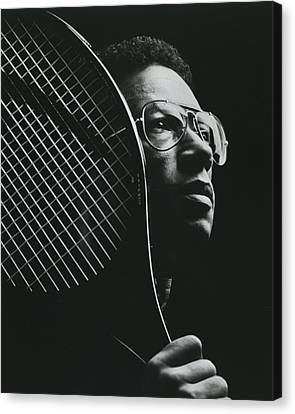 Wimbledon Canvas Print - Arthur Ashe by Retro Images Archive