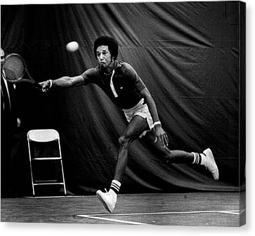 Australian Open Canvas Print - Arthur Ashe Returning Tennis Ball by Retro Images Archive