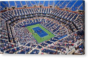 Ashe Canvas Print - Arthur Ashe Stadium From High Angle by Mason Resnick