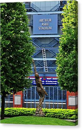 Arthur Ashe Stadium Canvas Print by Mike Martin