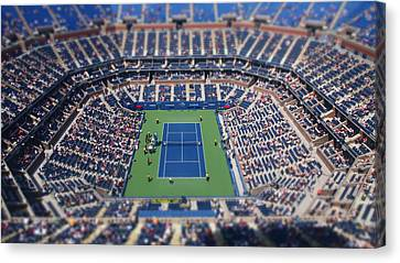 Ashe Canvas Print - Arthur Ashe Stadium Special Effect by Mason Resnick