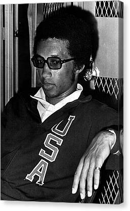 Australian Open Canvas Print - Arthur Ashe With Sunglasses by Retro Images Archive