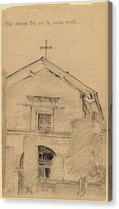Arthur B. Davies, Mission Dolores, San Francisco Canvas Print by Quint Lox