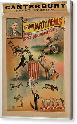 Arthur Matthews And His Rocky Mountain Go Canvas Print by British Library