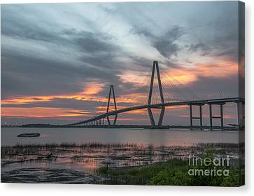 Canvas Print featuring the photograph Orange Nebulous by Dale Powell