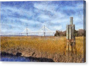 Impressionism Canvas Print - Arthur Ravenel Jr. Bridge by Daniel Eskridge