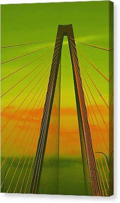 Arthur Ravenel Jr Bridge V Canvas Print by DigiArt Diaries by Vicky B Fuller