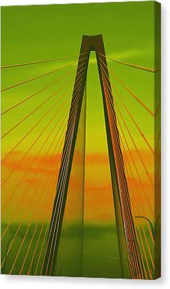 Arthur Ravenel Jr Bridge V Canvas Print by DigiArt Diaries by Vicky B Fuller