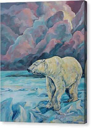 Artic Wanderer Canvas Print by Derrick Higgins