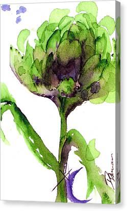 Artichoke Canvas Print by Dawn Derman