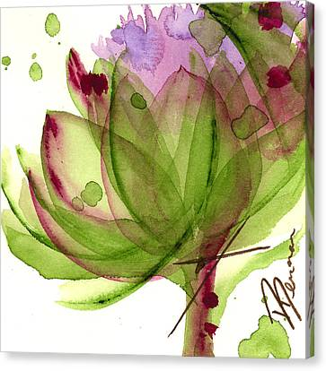 Artichoke Flower Canvas Print by Dawn Derman