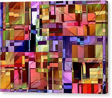 Canvas Print featuring the digital art Artificial Boundaries by Ginny Schmidt