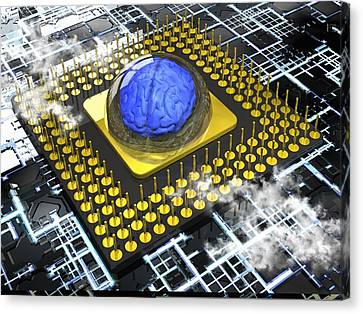 Artificial Intelligence, Conceptual Canvas Print by Science Photo Library