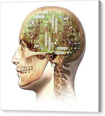 Artificial Intelligence Canvas Print by Leonello Calvetti
