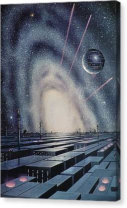 Artificial Planets, Artwork Canvas Print by Science Photo Library