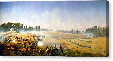 Artillery Hell At Antietam Canvas Print by Mountain Dreams