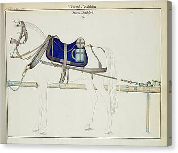 Artillery Horse Furniture Canvas Print by British Library