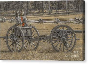 Artillery To The Front Canvas Print by Randy Steele