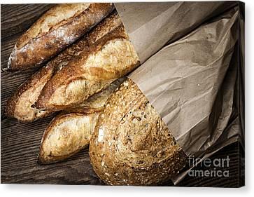 Artisan Bread Canvas Print by Elena Elisseeva
