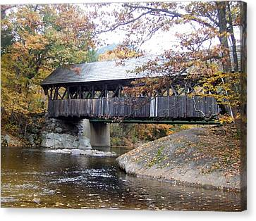 Artist Covered Bridge Canvas Print by Catherine Gagne