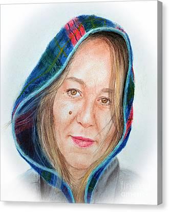 Artist Jadranka Bezanovic Sovilj  Canvas Print by Jim Fitzpatrick