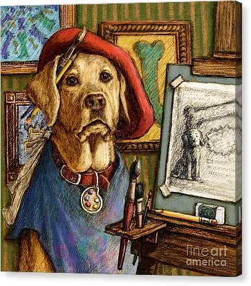 Animal Artist Canvas Print - Artist Lab by Kathleen Harte Gilsenan