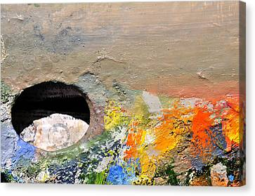 Artist Palette 2 Canvas Print by Angela Bonilla