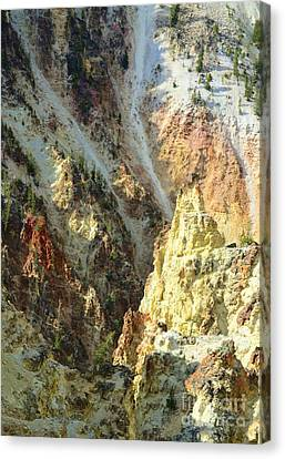 Artist Palette Of Yellowstone Canvas Print by Kathleen Struckle