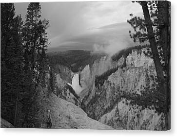 Artist Point Black And White Canvas Print by Robert  Moss