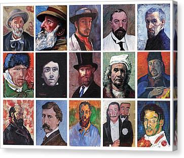 Artist Portraits Mosaic Canvas Print by Tom Roderick
