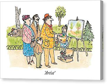 'artist' Canvas Print by William Steig