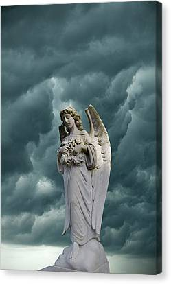 Angel Art Canvas Print - Artistic Creation Of Angel And Dark by Jaynes Gallery