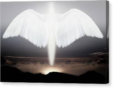 Angel Art Canvas Print - Artistic Creation Of Angel Or Spirit by Jaynes Gallery