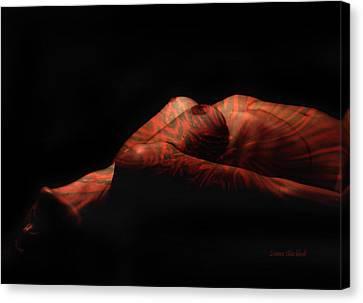 Artistic Crucifiction Canvas Print by Donna Blackhall
