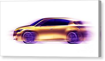 Artistic Dynamic Image Of Moving Blurred Car Canvas Print