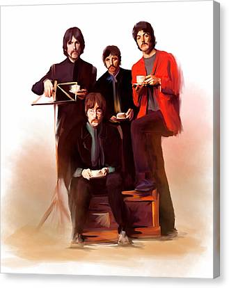 The Beatles Classic Fabs  Canvas Print by Iconic Images Art Gallery David Pucciarelli